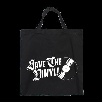 Save the Vinyl - Baumwoll Stoffbeutel (kurz)