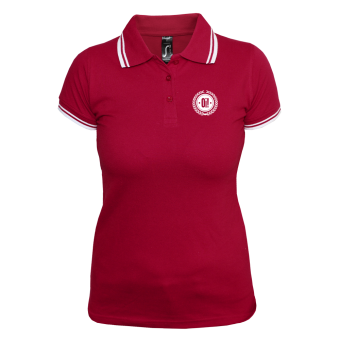 Oi! Girly Contrast Polo (rot/weiß)