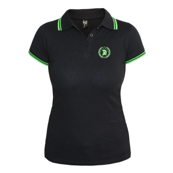 Trojan Girly Contrast Polo (black/green)