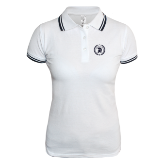 Trojan Girly Contrast Polo (white/navy)