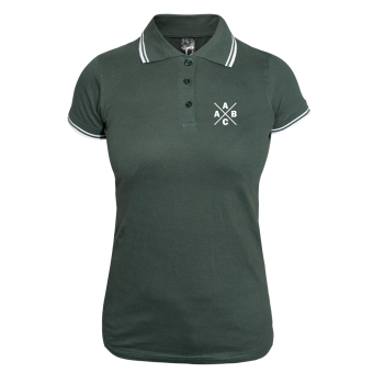 A.C.A.B Girly Contrast Polo (green/white)