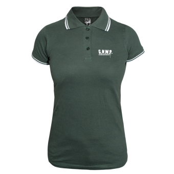 G.N.W.P. Girly Contrast Polo (green/white)