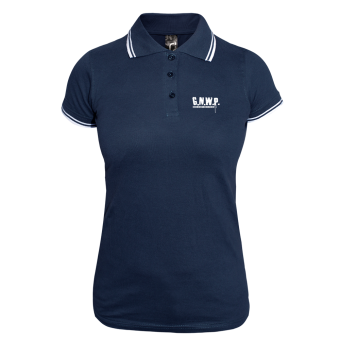 G.N.W.P. Girly Contrast Polo (navy/white)
