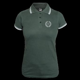 Rude Girl Girly Contrast Polo (green/white)