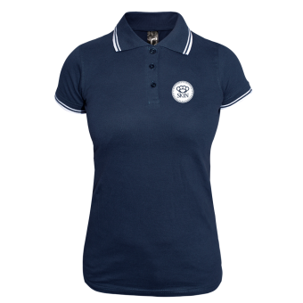 Skin Girly Contrast Polo (navy/white)