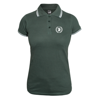 Trojan Girly Contrast Polo (green/white)