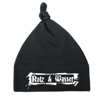 """Rotz & Wasser """"Logo"""" Baby Knotenmütze"""