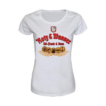 """Rotz & Wasser """"Die Mischung machts"""" Girly Shirt (weiß)"""