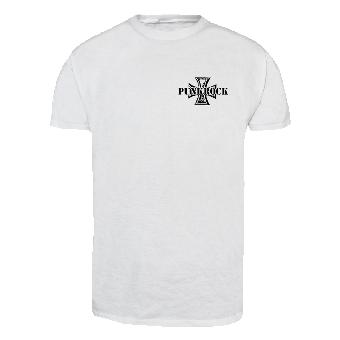 "Punkrock ""Iron Cross"" T-Shirt (white)"