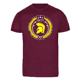 "Skin ""Trojan"" T-Shirt (bordeaux)"