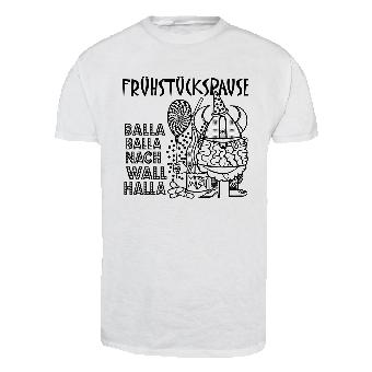 "Frühstückspause ""Balla Balla"" T-Shirt (white)"