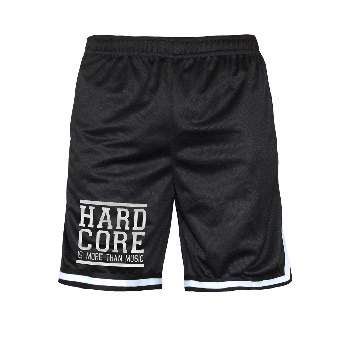 "Mesh Shorts ""Hardcore is more than Music"" (black)"