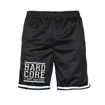 "Mesh Shorts ""Hardcore is more than Music"" (schwarz)"