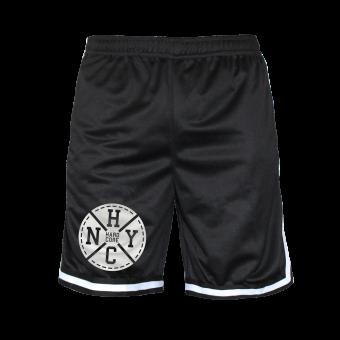 """Mesh Shorts """"NYHC"""" (schwarz)"""