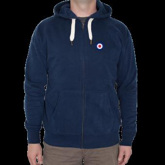 "Premium Hooded Jacket ""Mod Target"" (navy)"