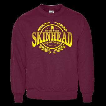 "Skinhead ""Against Fascism"" Sweatshirt (bordeaux)"
