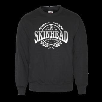 "Skinhead ""Against Fascism"" Sweatshirt (schwarz)"