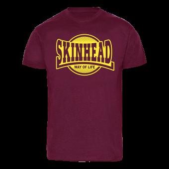 """Skinhead """"W.O.L."""" T-Shirt (bordeaux)"""