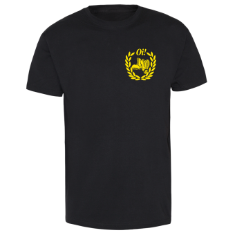 Boots Oi! (small/yellow) T-Shirt (black)