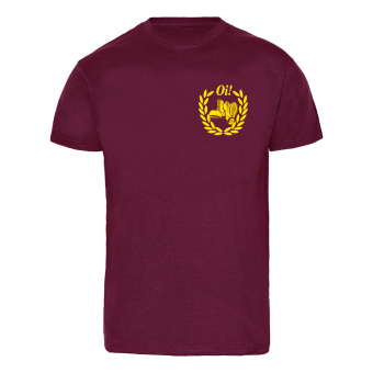 Boots Oi! (small/yellow) T-Shirt (bordeaux)