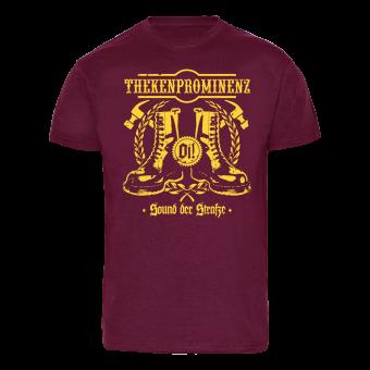 "Thekenprominenz ""Sound der Straße"" -gelb- T-Shirt (bordeaux)"