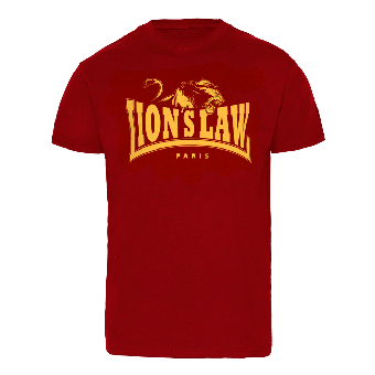 "Lion`s Law ""Yellow Logo"" T-Shirt (darkred)"
