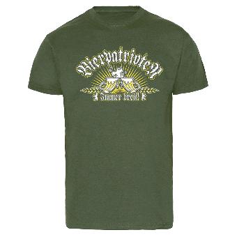 """Bierpatrioten """"Immer breit"""" T-Shirt (olive)"""