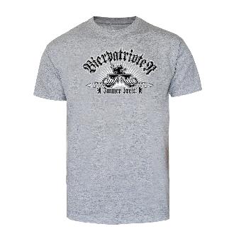 """Bierpatrioten """"Immer breit"""" T-Shirt (grey)"""
