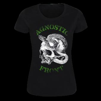 """Agnostic Front """"Snake Skull"""" Girly Shirt (black)"""