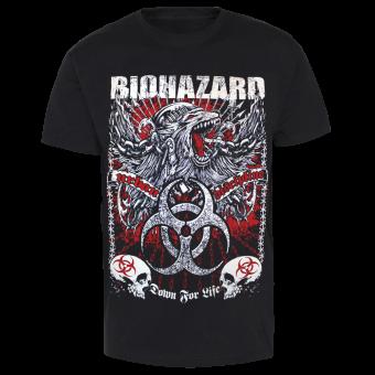 "Biohazard ""Down for Life"" T-Shirt (black)"