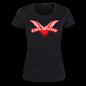 """Cock Sparrer """"Logo"""" Girly Shirt (black)"""