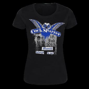 "Cock Sparrer ""Munich"" Girly Shirt (black)"
