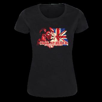 "Cock Sparrer ""England Belongs"" Girly Shirt (black)"