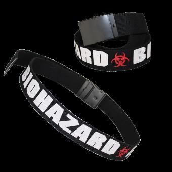 Biohazard Webgürtel (schwarz)