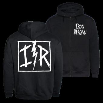 "Iron Reagan ""Chest Logo"" Zip Hoody (black)"