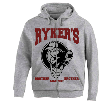 "Rykers ""Brother Against Brother"" Zip Hoody (grey)"