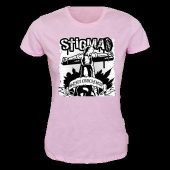 """Stigma """"Still Crucified"""" Girly Shirt (pink)"""