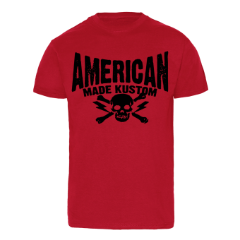 "American Made Kustoms ""Clamp Down"" T-Shirt (red)"