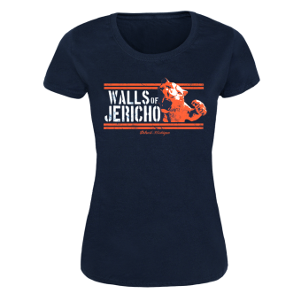 "Walls of Jericho ""Tiger"" Girly Shirt (navy)"