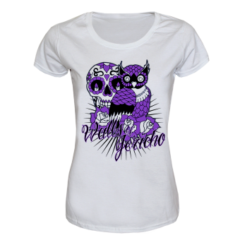 "Walls of Jericho ""Owl"" Girly Shirt (white)"