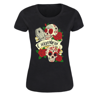 "Creepshow ""Skulls and Roses"" Girly Shirt"