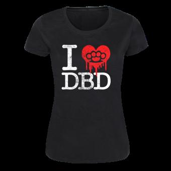 "Death Before Dishonor ""I heart DBD"" Girly Shirt"