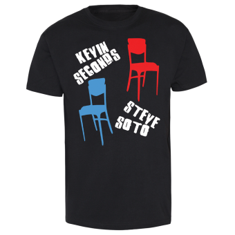 """Kevin Seconds """"Chairs"""" T-Shirt"""