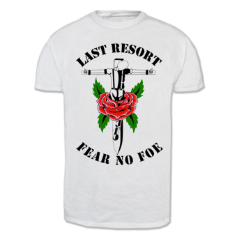 "Last Resort ""Fear no Foe"" T-Shirt (white)"