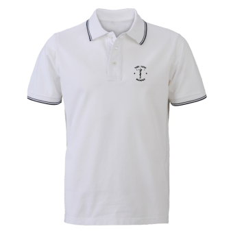 "Last Resort ""Crucified"" Polo (white)"