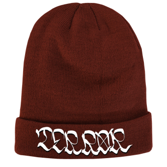 "Terror ""Logo"" Long Beanie (Bordeaux)"