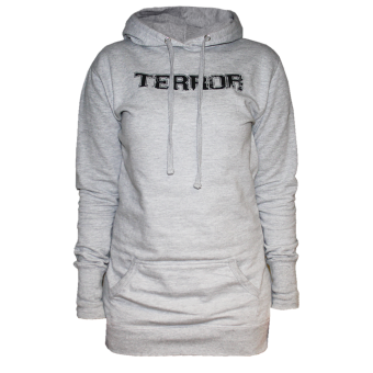 "Terror ""New Blood"" Girly Long Hoody (grey)"