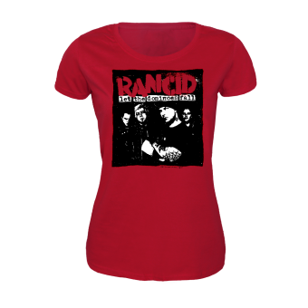 """Rancid """"Dominoes"""" Girly-Shirt (red)"""