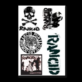 Rancid Patch Set (Druck) (white)