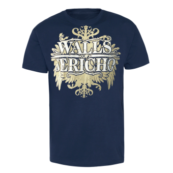 "Walls of Jericho ""New Crest"" T-Shirt (navy)"